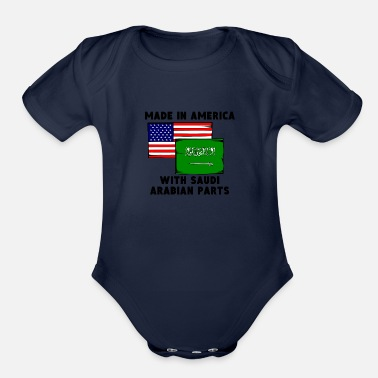 Saudi Arabia Made In America With Saudi Arabian Parts - Organic Short Sleeve Baby Bodysuit