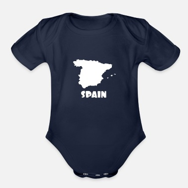 Spain Spain - Organic Short Sleeve Baby Bodysuit