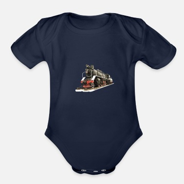 Model railroad - Organic Short-Sleeved Baby Bodysuit