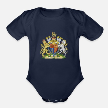 British British Empire Flag - Organic Short-Sleeved Baby Bodysuit