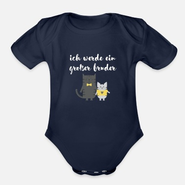 Siblings I'm going to be a big brother - Organic Short-Sleeved Baby Bodysuit