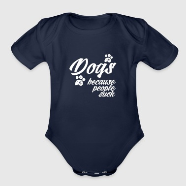 people suck - Organic Short Sleeve Baby Bodysuit