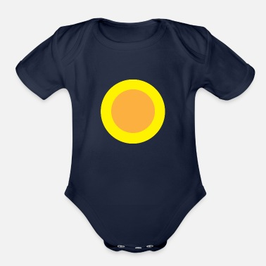 Circle Circle Circle - Organic Short-Sleeved Baby Bodysuit