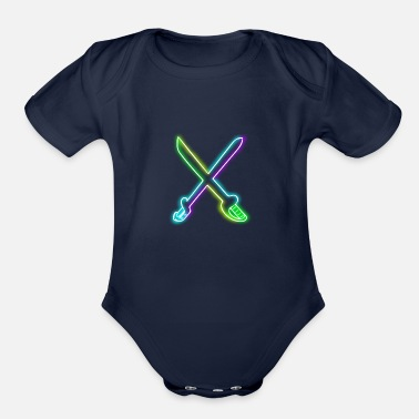 Sword SWORD - Organic Short-Sleeved Baby Bodysuit