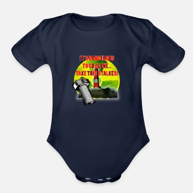 Fps Russia Radioactive Warning - Organic Short-Sleeved Baby Bodysuit
