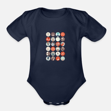 Advent Advent calendar - Organic Short-Sleeved Baby Bodysuit