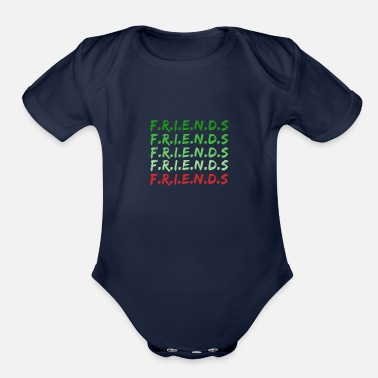 Friend Friends - Organic Short-Sleeved Baby Bodysuit