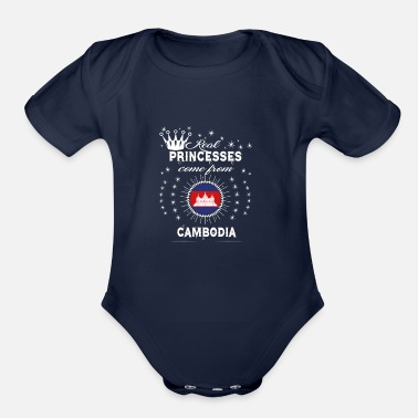 Cambodia queen love princesses CAMBODIA - Organic Short-Sleeved Baby Bodysuit