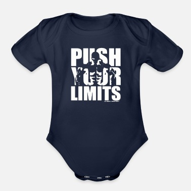 Funny Gym Weights And Protein Shakes Gym T Shirt funny - Organic Short-Sleeved Baby Bodysuit