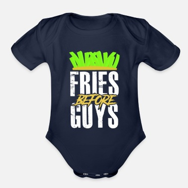 Fries Fries fries funny - Organic Short-Sleeved Baby Bodysuit