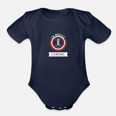North Sea Ein Nordlicht - Flensburg - Organic Short-Sleeved Baby Bodysuit