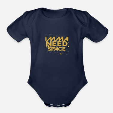 Imma IMMA NEED SPACE - Organic Short-Sleeved Baby Bodysuit