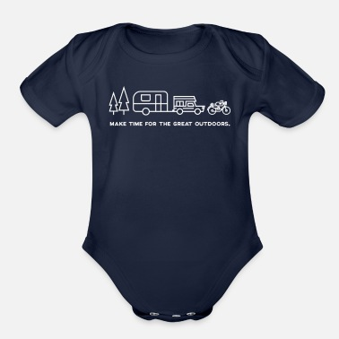 Great Outdoors Make time for the great outdoors - Organic Short-Sleeved Baby Bodysuit