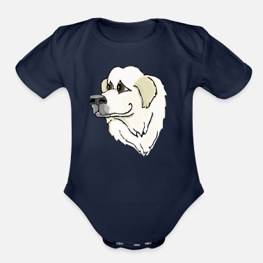 Pyrenees The Great Pyrenees - Organic Short-Sleeved Baby Bodysuit