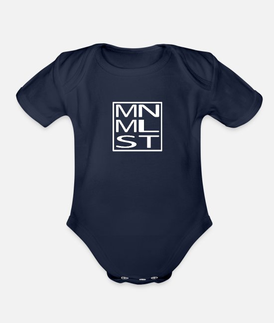 Minimum Baby One Pieces - Minimalistic Minimalist - Organic Short-Sleeved Baby Bodysuit dark navy