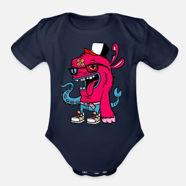 Sea Sea creatures - Organic Short-Sleeved Baby Bodysuit