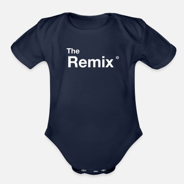Original the REMIX kid team shirt with original dad father - Organic Short-Sleeved Baby Bodysuit