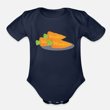 Carrot Carrots - Organic Short-Sleeved Baby Bodysuit