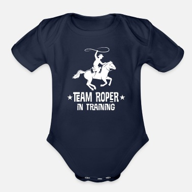 Cowboy Future Team Roper in Training - Organic Short-Sleeved Baby Bodysuit