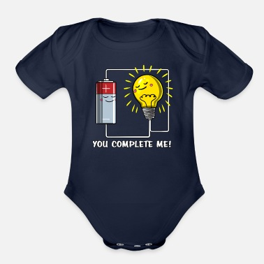 Physics Jokes Physics You Complete Me Joke - Organic Short-Sleeved Baby Bodysuit
