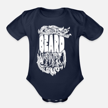 Beard Beard - Organic Short-Sleeved Baby Bodysuit