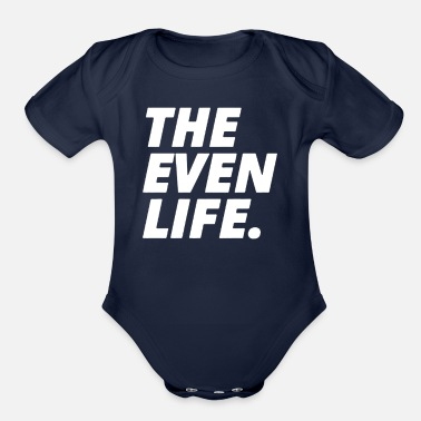 Evening THE EVEN LIFE - Organic Short-Sleeved Baby Bodysuit