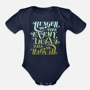 Hunger Hunger is the enemy - Organic Short Sleeve Baby Bodysuit