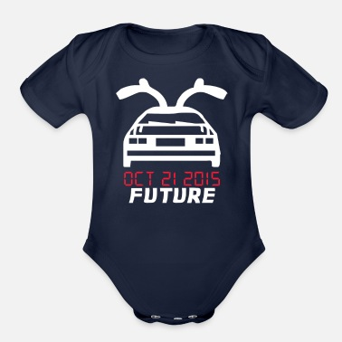Future Back To The Future Classic - Organic Short Sleeve Baby Bodysuit