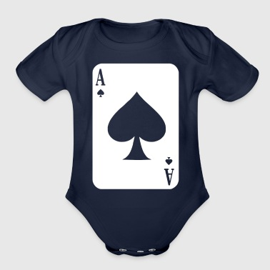 Ace Of Spades - Organic Short Sleeve Baby Bodysuit