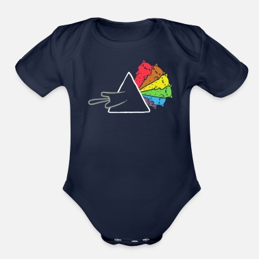 Darkside Darkside of the Meow - Organic Short Sleeve Baby Bodysuit