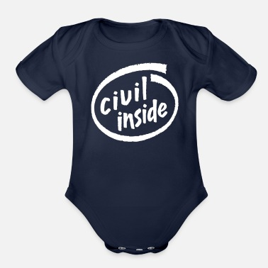Civil Civil Inside - Organic Short Sleeve Baby Bodysuit
