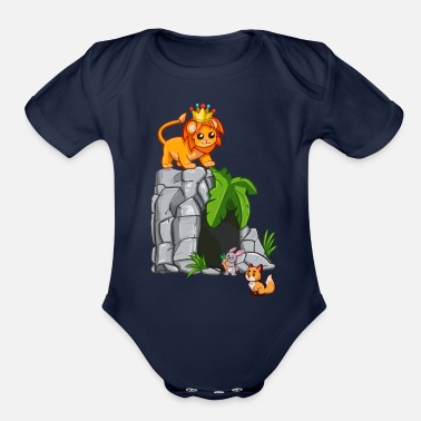 Lion King T shirt By LindezaDesign - Organic Short-Sleeved Baby Bodysuit