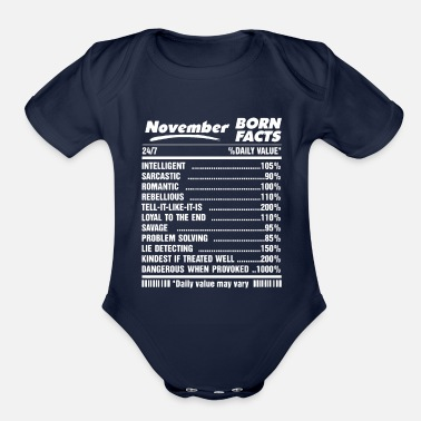 November Born Facts November born facts - Organic Short-Sleeved Baby Bodysuit