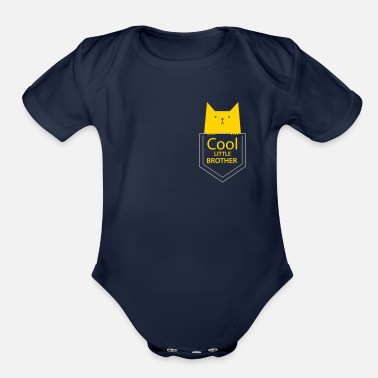 Siblings cool little Brother - Organic Short-Sleeved Baby Bodysuit