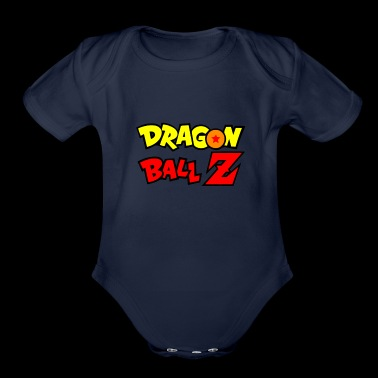 Dragon Ball Z Goku logo 4 - Organic Short Sleeve Baby Bodysuit