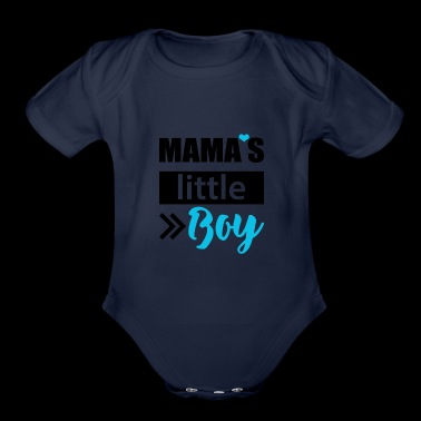 Mama's little Boy - Organic Short Sleeve Baby Bodysuit
