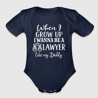 Future Lawyer Like my Daddy - Organic Short Sleeve Baby Bodysuit