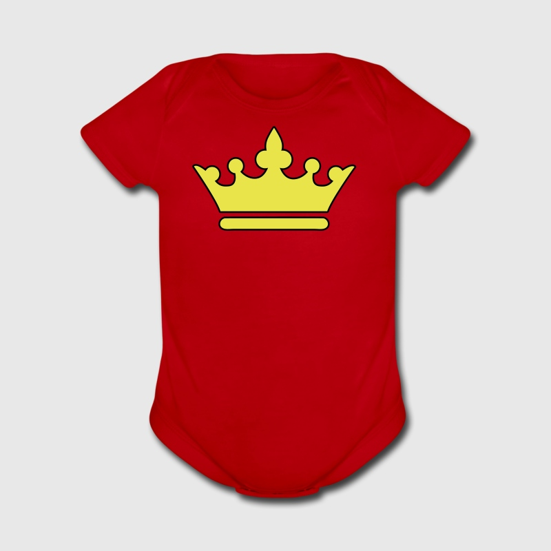 KINGS CROWN prince princess or Queen - Short Sleeve Baby Bodysuit