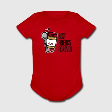 Best friends forever peanut butter / spoon BFF - Short Sleeve Baby Bodysuit