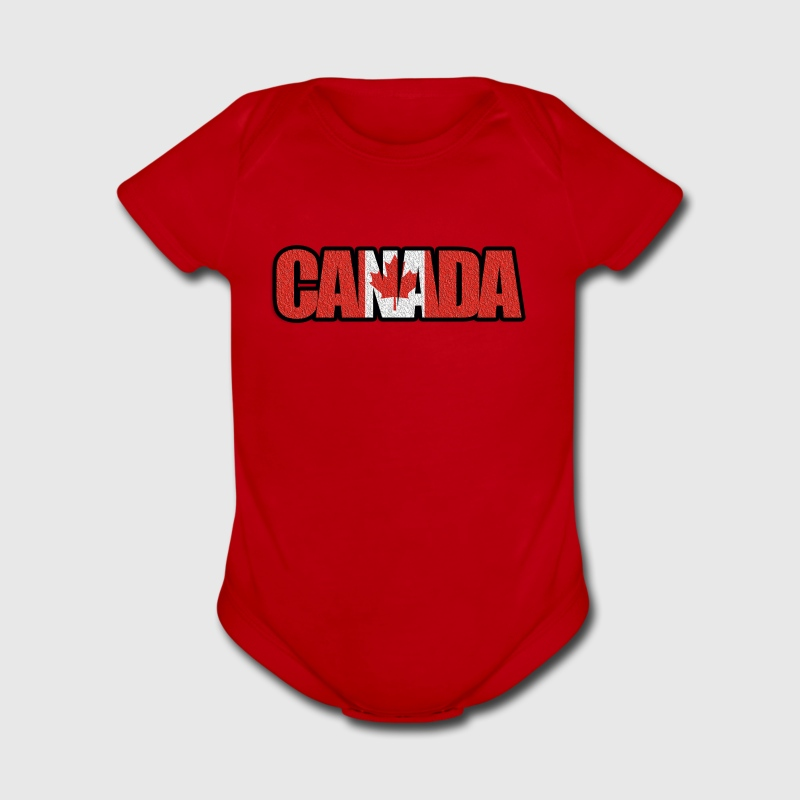Canada Words - Short Sleeve Baby Bodysuit