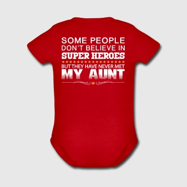 THEY HAVE NEVER MET MY AUNT! - Short Sleeve Baby Bodysuit
