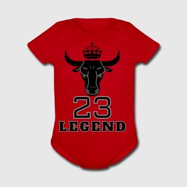 Legend 23 Basketball MJ Bulls jersey - Short Sleeve Baby Bodysuit