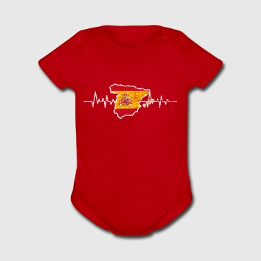 Spain flag - Short Sleeve Baby Bodysuit