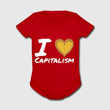 I Love Capitalism - gift - Short Sleeve Baby Bodysuit