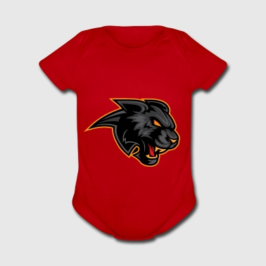 blackpanther gold - Short Sleeve Baby Bodysuit