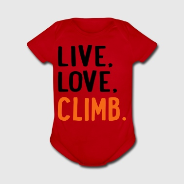 climb - Short Sleeve Baby Bodysuit