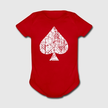 Spades Symbol Cards - Short Sleeve Baby Bodysuit