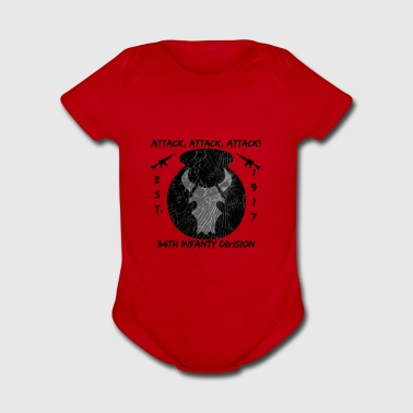34th Infantry Division Subdued - Short Sleeve Baby Bodysuit