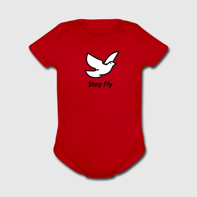 Stay Fly - Short Sleeve Baby Bodysuit
