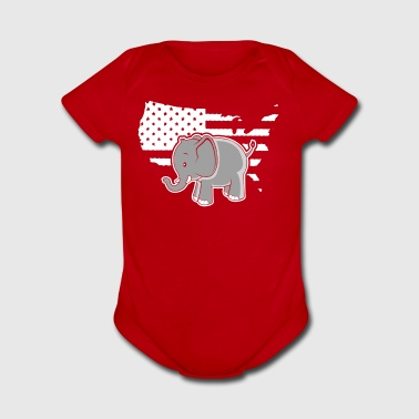 Elephant Shirt - Short Sleeve Baby Bodysuit